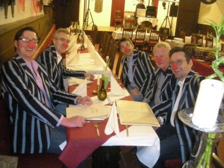 Senioren des Hockey-Club Bad Homburg in Clubjacke, Villingen, Februar 2011