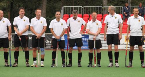 Deutsches Ü50-Team mit Hennes Jednat, Hockey-Club Bad Homburg