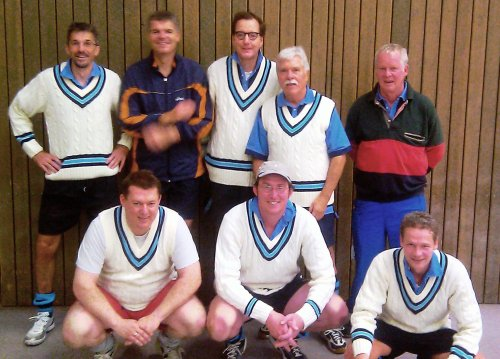 Senioren des Hockey-Club Bad Homburg im Cricket-Pullover, November 2011