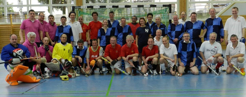 Teilnehmer beim Hallenhockey-Turnier des Hockey-Club Bad Homburg, Februar 2012