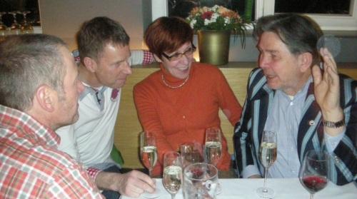 Heike und Matthias im Gespräch mit Andreas und Karsten vom TSV Ludwigsburg