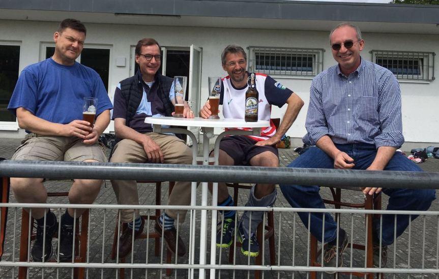 Die Ur-Ultras: Sven Schaefer, Nicolai Hammersen, Hennes Jednat, Hans Kuhlbrodt